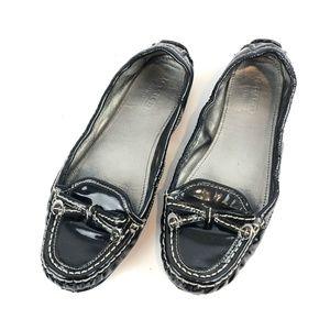 COACH Isabelle Black Patent Leather Flats 6.5M
